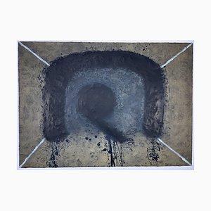 Antoni Tapies, L'arc, 1975, Farbradierung mit Carborundum, Informel