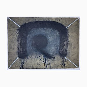 Antoni Tapies, L'arc, 1975, Color Etching with Carborundum, Informel