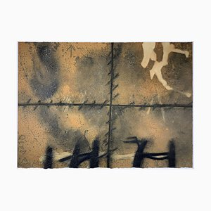 Antoni Tapies, Raw, 1972, Color Etching with Carborundum, Informel