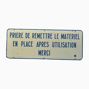 Industrial Enamel Sign, 1950s