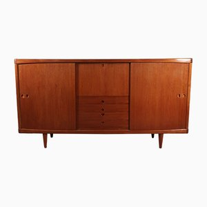 Mid-Century Cabinet with 2 Sliding Doors by Henry W. Klein for Bramin