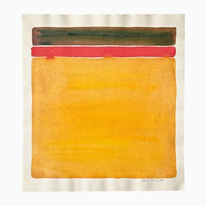 Rolf Hans, Indian Yellow-Red Watercolor, 1966, Color Field Painting