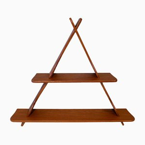 Danish Triangular Teak Wall Shelf in the style of Peder Moos, 1950s