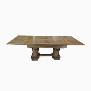 Modernist Oak Dining Table by Charles Dudouyt, 1930s