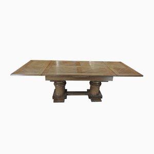 Tavolo da pranzo modernista in quercia di Charles Dudouyt, anni '30