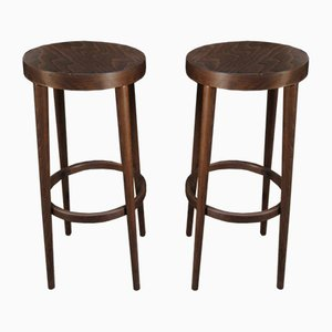 French Beechwood Bar Stools from Baumann, 1960s, Set of 2