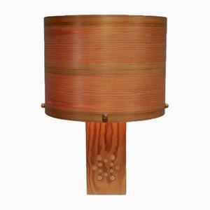 Vintage Kiefernholz Tischlampe von Pileprodukter