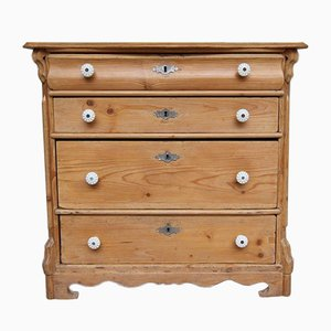 Small Late Biedermeier Softwood Chest of Drawers