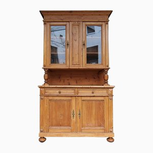 Big Antique Softwood Kitchen Cabinet