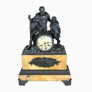 Empire Belisario Bronze & Siena Marble Clock