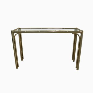 Faux Bamboo Brass Console