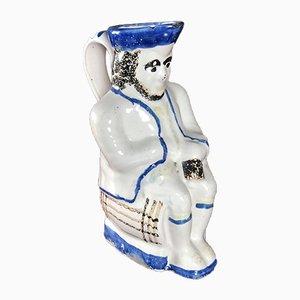 Late 19th Century Anthropomorphic Ceramic Jacquot Pitcher