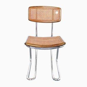 Chaises de Salon Style Bauhaus en Acier et en Rotin, 1970s, Set de 14