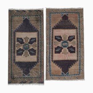 Vintage Turkish Small Miniature Carpets, 1970s, Set of 2