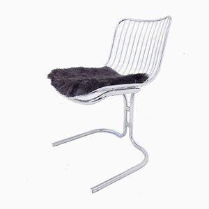Chrome Radiofreccia Dining Chairs by Gastone Rinaldi for Rima, 1970s, Set of 4