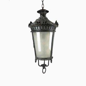 Antique Round Galvanized Metal Ceiling Lamp