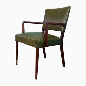 Vintage Danish Leather Elbow Desk Chair