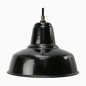 Lampada da soffitto smaltata nera di Philips, Paesi Bassi, anni '50