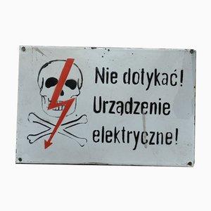 Polnisches Emailliertes Metallschild, 1960er