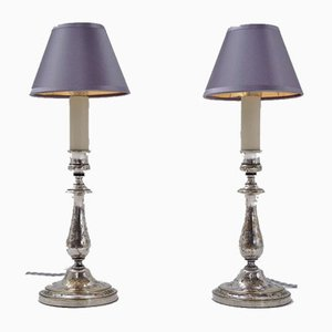 French Antique Table Lamps from Christofle, 1905, Set of 2