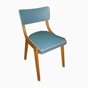 Mid-Century Light Blue Dining Chairs,1950s, Set of 2