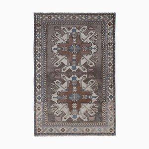 Türkischer Geometrischer Vintage Wollteppich, 1970er