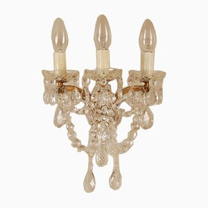 French Baroque Style Crystal Sconces by Marie Therese, 1940s, Set of 2
