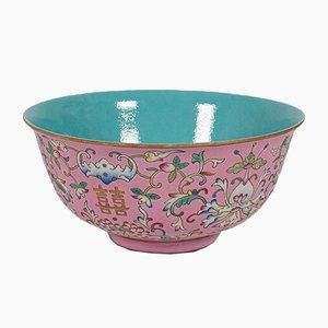Cuenco chino antiguo de cerámica, década de 1880