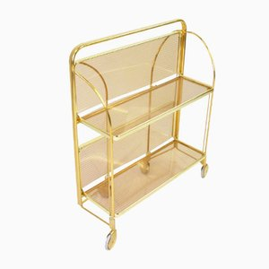 Mid-Century Golden Foldable Bar Cart, 1960s