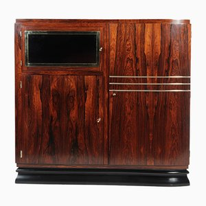 French Art Deco Rosewood Cabinet, 1920s