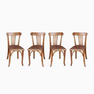 Chaises de Bistrot de Luterma, 1950s, Set de 4