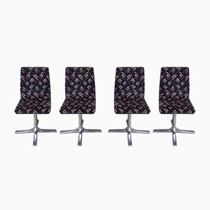 Vintage Swivel Chairs, 1960s, Set of 4