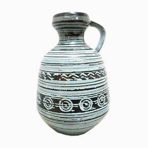Deutscher Mid-Century Vintage Keramik Keramik Krug von Strehla Keramik