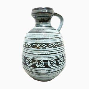 Mid-Century Vintage West German Pottery Ceramic Jug from Strehla Keramik