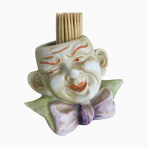 Small Jester Face Vase for Toothpicks or Flowers, 1920s