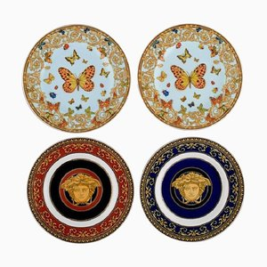 Late 20th Century Plates in Porcelain by Gianni Versace for Rosenthal, Set of 4