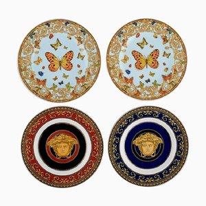 Porzellan Teller von Gianni Versace für Rosenthal, 4er Set