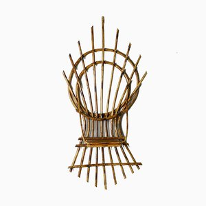 Bamboo Wall Plant Holder, 1970s