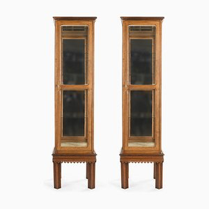 Wooden Windows with Interior Mirror, Set of 2