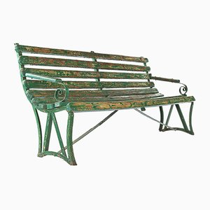 Green Patina Wooden Bench