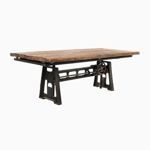 Industrial Wooden Tray Table
