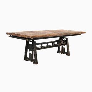 Industrieller Holztablett Tisch