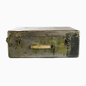 Green Patina Metal Suitcase