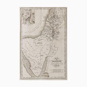 Unknown, Karte von Palästina, Radierung, 19. Jahrhundert