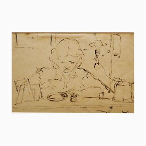 Arturo Peyrot, Woman, Drawing, 1960