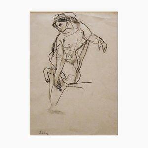 Jeanne Daour, Nackte Frauen, Zeichnung in Bleistift, Mitte 20. Jahrhundert