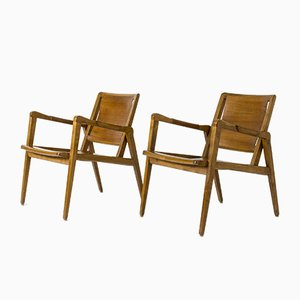 Lounge Chairs by Axel Larsson for Bodafors, Set of 2
