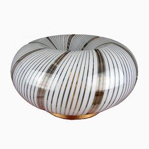 Mid-Century Swirl Murano Glass Ceiling / Wall Lamp, Italy