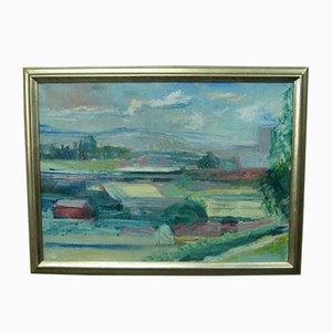 Carl-Erik Billström, Schwedische Moderne Gemälde, Öl auf Leinwand, 1970er
