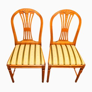 Antique Gustavian Dining Chairs, 1880s, Set of 2